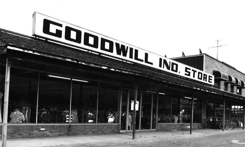 Goodwill store exterior from the 1970's
