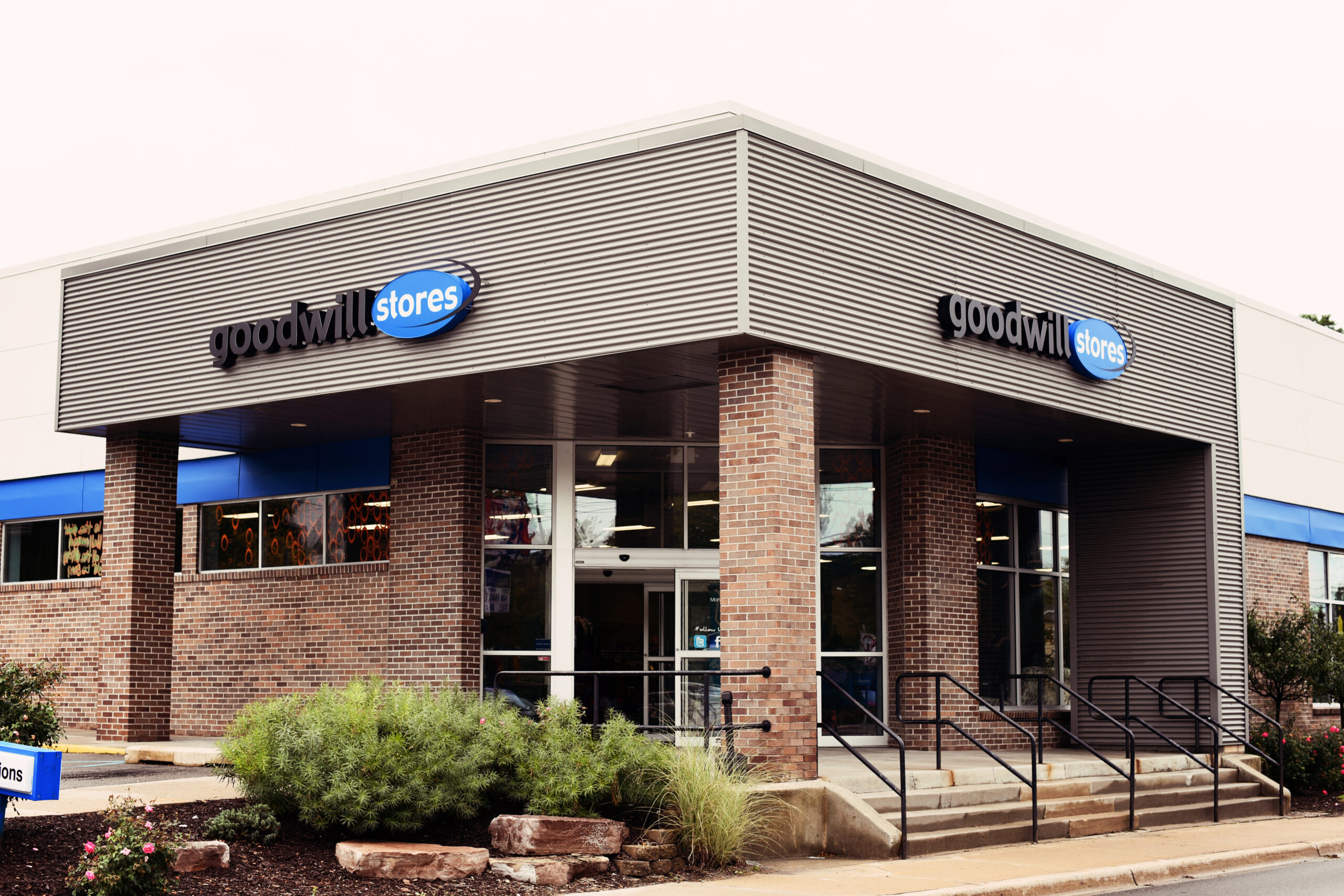 exterior of goodwill store